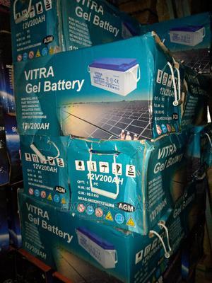 Vitra Gel Battery 200ah 12v   Solar Energy for sale in Lagos State, Ikeja