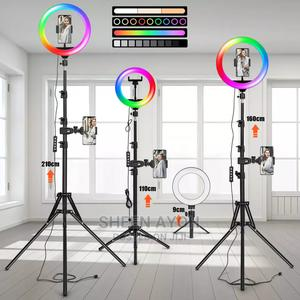 RGB Ring Light With Tripod.   Accessories for Mobile Phones & Tablets for sale in Lagos State, Shomolu