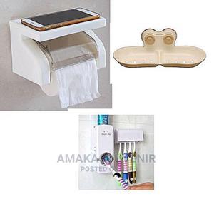 Tissue Holder,Toothpaste Dispenser Soap Dish | Home Accessories for sale in Lagos State, Lagos Island (Eko)