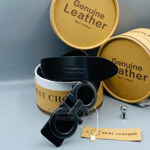 High Quality FERRAGAMO Black Leather Belt Available for Sale   Clothing Accessories for sale in Lagos State, Magodo