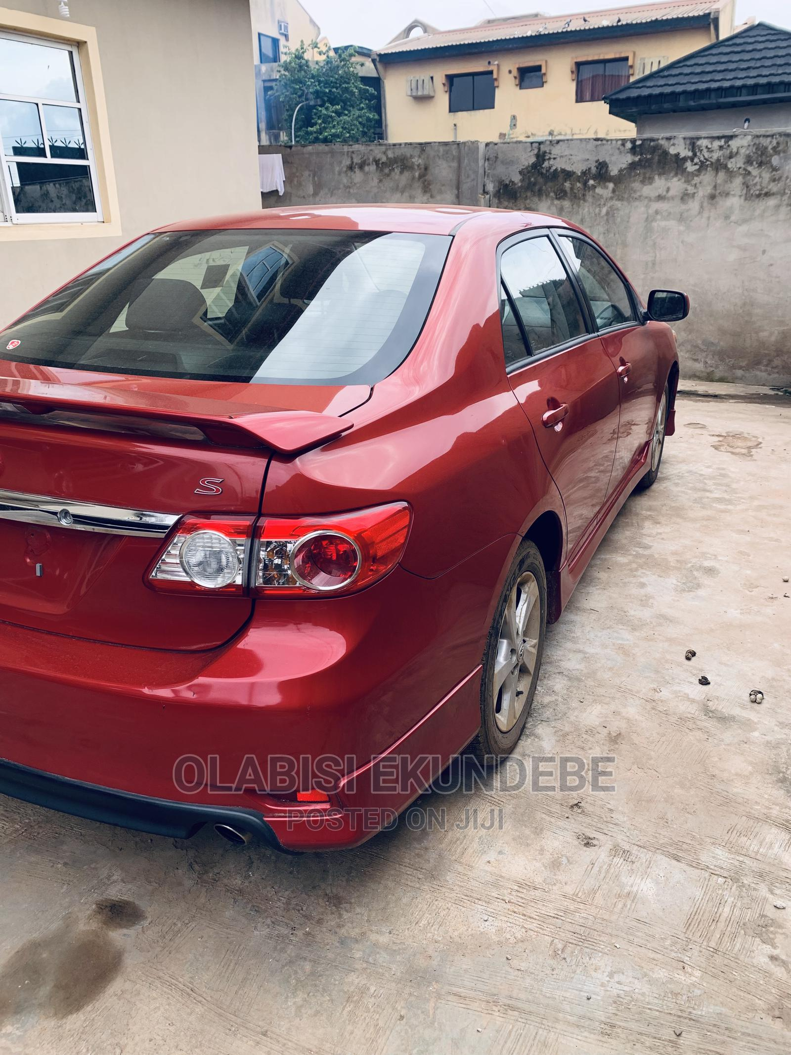 Toyota Corolla 2012 Red   Cars for sale in Ogba, Lagos State, Nigeria