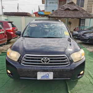 Toyota Highlander 2008 Limited 4x4 Black | Cars for sale in Lagos State, Ilupeju