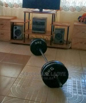 5ft Barbell Rod With X4 Weight Plates 25kg | Sports Equipment for sale in Oyo State, Ibadan