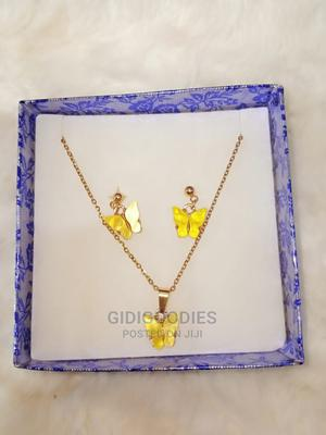Colored Butterfly Earrings With Necklace and Pendant | Jewelry for sale in Lagos State, Ojodu