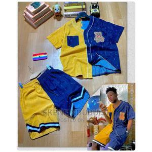 Designers Shirt and Short Jeans/Velvet | Clothing for sale in Lagos State, Oshodi