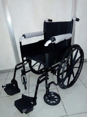 Drive Devilbiss Silver Spot Wheelchair With Fold Back | Medical Supplies & Equipment for sale in Edo State, Benin City