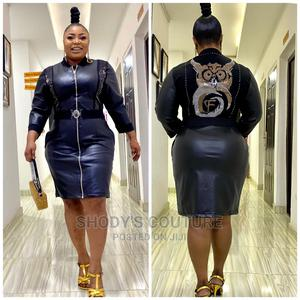 Black Pu Leather Dress   Clothing for sale in Lagos State, Ikeja