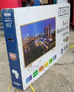 "New Solstar 65"" Android Smart Satellite Flat TV Netflix | TV & DVD Equipment for sale in Lagos State, Ojo"