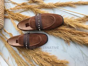 Brown Alani Suede Spike Loafers | Shoes for sale in Lagos State, Maryland