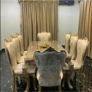 Gold Wooden Dinning Table   Furniture for sale in Lagos State, Ikeja