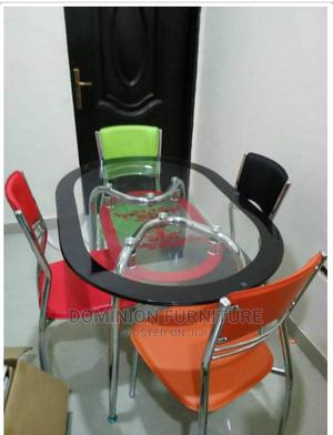 Good Quality Glass Dinning Table With 4 Chairs( | Furniture for sale in Lagos State, Lekki