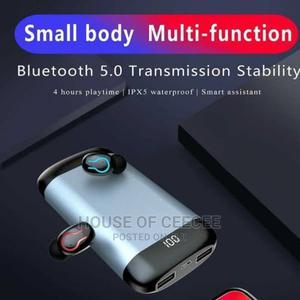 Bluetooth Earphones 6,000 Mah Powerbank | Headphones for sale in Lagos State, Ikeja