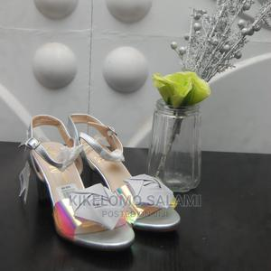 Silver Blocked Heel Sandal (Size 9) | Shoes for sale in Lagos State, Alimosho