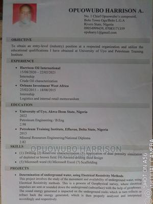 Clerical Administrative CV | Clerical & Administrative CVs for sale in Rivers State, Okrika