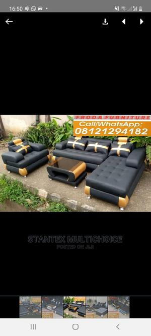 L Shape Sofa With One Single and Center Table | Furniture for sale in Lagos State, Lekki