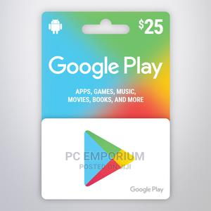 Google Play Gift Card (US) - $25   Accessories & Supplies for Electronics for sale in Abuja (FCT) State, Gudu