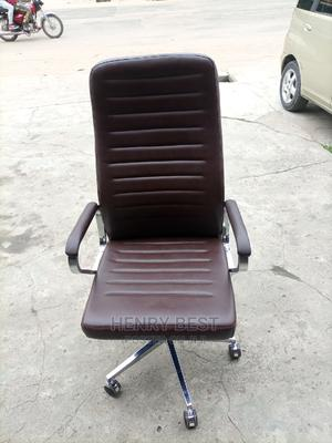 Brown Leather Office Chair   Furniture for sale in Lagos State, Ogba