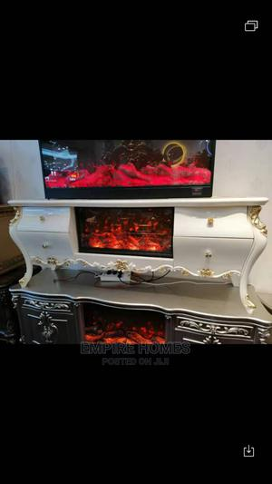 Royal Tv Stand With Fire Flames Display | Furniture for sale in Lagos State, Oshodi