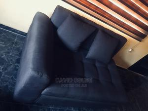 Very Neatly Used Brown 2 Seater Cushion Couch. | Furniture for sale in Lagos State, Ikorodu