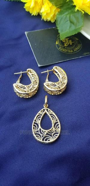 Brazillian Gold Earring and Pendant Set | Jewelry for sale in Lagos State, Ajah