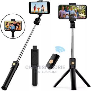 Wireless Bluetooth Selfie Stick Tripod Folding Bracket Phone | Accessories for Mobile Phones & Tablets for sale in Rivers State, Port-Harcourt