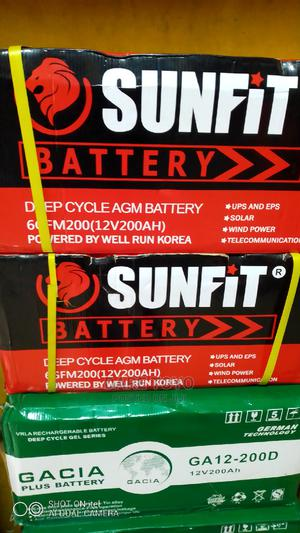 200amps Sunfit Deep Cycle Inverter Battery   Solar Energy for sale in Lagos State, Badagry