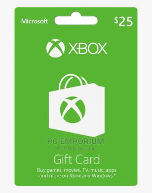 Xbox Live Gift Card - $25   Accessories & Supplies for Electronics for sale in Abuja (FCT) State, Gudu