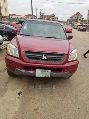 Honda Pilot 2005 EX-L 4x4 (3.5L 6cyl 5A) Red | Cars for sale in Lagos State, Ikeja