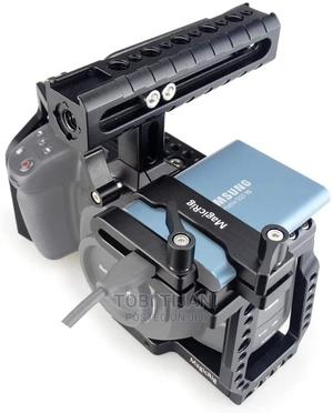 Blackmagic Rig/Cage With Nato Handle + T5 Ssd Card Mount New   Photo & Video Cameras for sale in Edo State, Benin City