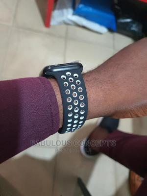 Watch Band Nike Design (Black Dotted White) | Smart Watches & Trackers for sale in Lagos State, Ikeja