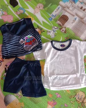 Baby Boy 3pcs T-Shirt, Jacket and Short | Children's Clothing for sale in Lagos State, Alimosho