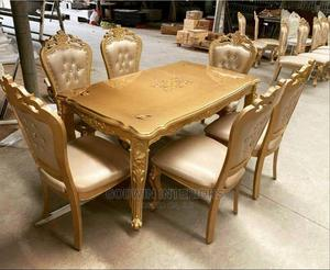 Royal Wooden Dining Table With 6 Chairs   Furniture for sale in Lagos State, Ikeja
