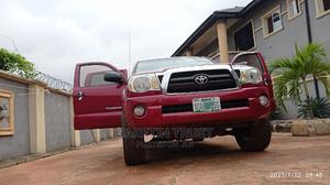 Toyota Tacoma 2008 4x4 Double Cab Red | Cars for sale in Edo State, Benin City