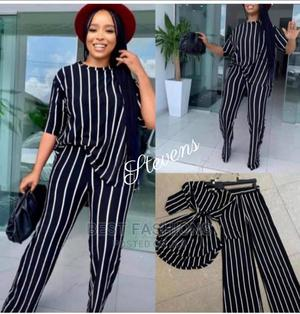 Black Stripes Parazzo Trouser and Top | Clothing for sale in Lagos State, Ikeja