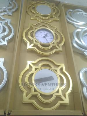 PORTABLE WALL CLOCK With Two Mirror | Home Accessories for sale in Lagos State, Lagos Island (Eko)