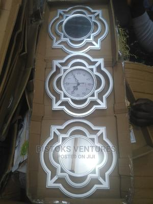 Silver Portable Wall Clock (Gift) | Home Accessories for sale in Lagos State, Lagos Island (Eko)