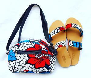 Zenab Ankara Bag and Slippers Set | Bags for sale in Lagos State, Ajah