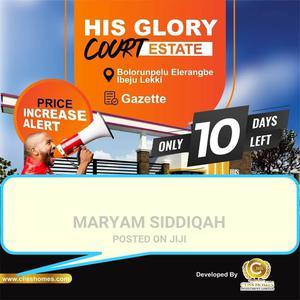 His Glory Court Estate, Bolorunpelu, Elerangbe, Ibeju Lekki, | Land & Plots For Sale for sale in Ibeju, Elerangbe