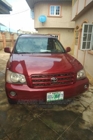 Toyota Highlander 2003 Limited V6 AWD Red | Cars for sale in Edo State, Benin City