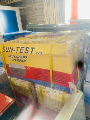 200ah 12v Sun Test Gel Battery   Solar Energy for sale in Lagos State, Lekki