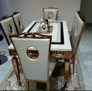 Marble Dinning Table With Dinning Chair | Kitchen & Dining for sale in Lagos State, Lekki