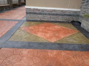 Stamped Concrete Floor   Landscaping & Gardening Services for sale in Abuja (FCT) State, Lugbe District