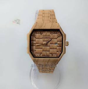 Wooden Color Casio Wrist Watch | Watches for sale in Edo State, Benin City