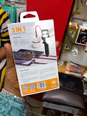 LDNIO 3 in 1 Fast Cable | Accessories for Mobile Phones & Tablets for sale in Lagos State, Ikeja
