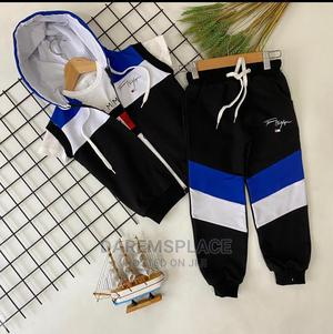 3pcs Boys Hooded Outfit Set   Children's Clothing for sale in Lagos State, Ipaja