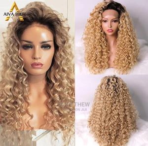 Full Frontal Lace Wig,Curls Original Human Hair   Hair Beauty for sale in Lagos State, Mushin