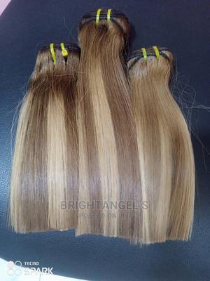 Bone Straightbone Straight Orange, White 10inches 50k | Hair Beauty for sale in Lagos State, Lagos Island (Eko)