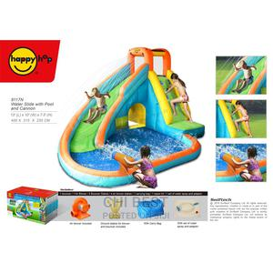 Happy Hop Water Slide With Pool Abd Cannon Jumpoline.   Toys for sale in Lagos State, Lagos Island (Eko)
