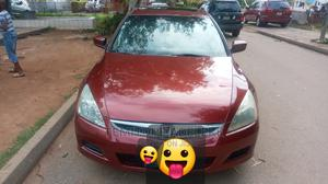 Honda Accord 2007 Red   Cars for sale in Abuja (FCT) State, Central Business Dis