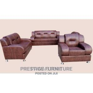 A Quality 7 Seater Sofa , Made With Leather | Furniture for sale in Lagos State, Ikeja